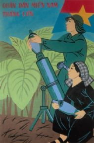 Vintage Vietnamese Woman at War Propaganda Poster